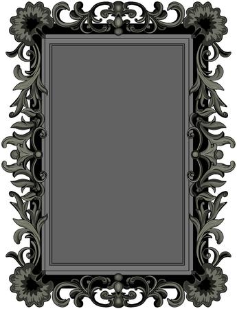 Illustration d'un cadre noir antique