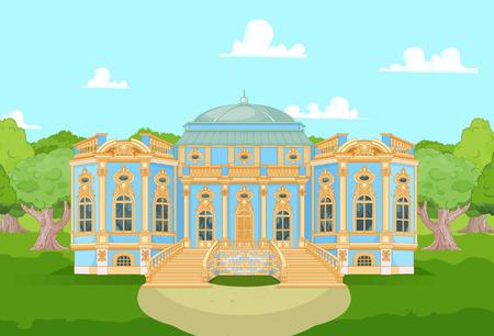 Netter romantischer Palast für eine Prinzessin Vektorgrafik