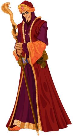 Illustration of Arabian Nights treacherous vizier Reklamní fotografie - 85868663