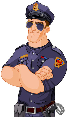Illustration of police officer Иллюстрация