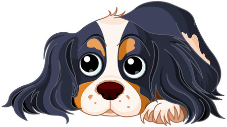 Illustration of Cavalier King Charles Spaniel Фото со стока - 87342281
