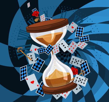 Illustration de conception d'horloge de sable Illustration