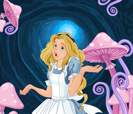 Illustration of Alice extremely confused Illustration