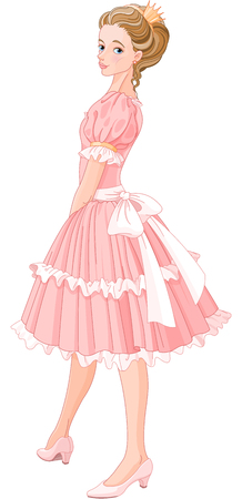 Illustration of beautiful princess Illustration