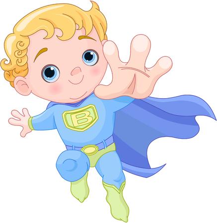 Illustration of very cute super baby boy  Illustration