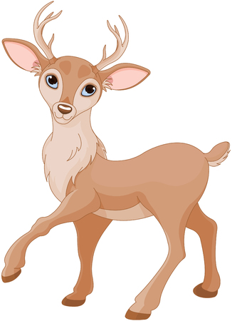 Illustration of cute standing deer