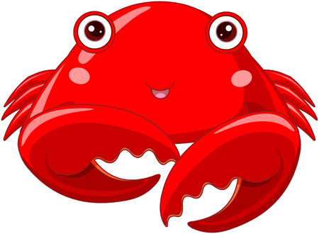 Illustration of cute red crab Illustration