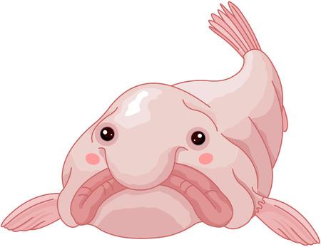 Illustration de poissons blob mignon. Banque d'images - 91015605
