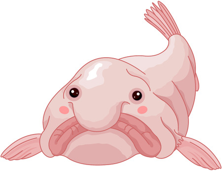 Illustration of cute blob fish. Illustration
