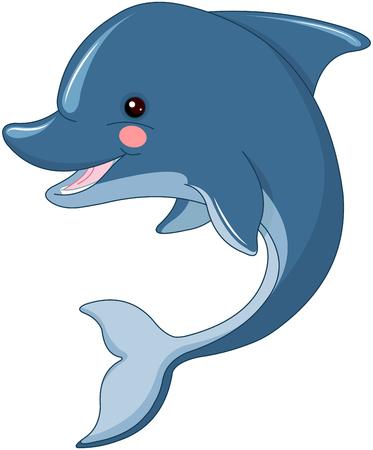 Illustration of cute dolphin