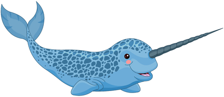 Illustration of cute narwhal