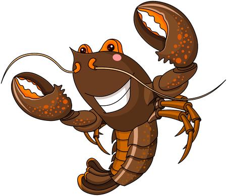 Illustration of very cute lobster Illustration