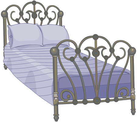 Illustration of tucked bed