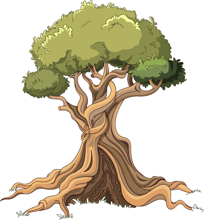 Illustration of majestic tree Illustration