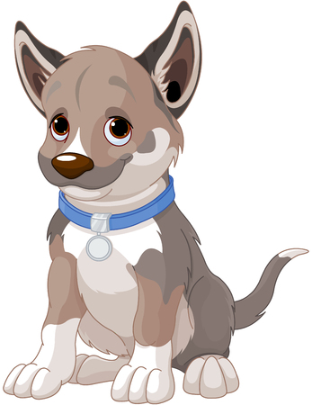 Illustration of very cute puppy dog Banque d'images - 94649824