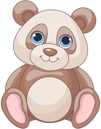 Illustration of cute baby Panda