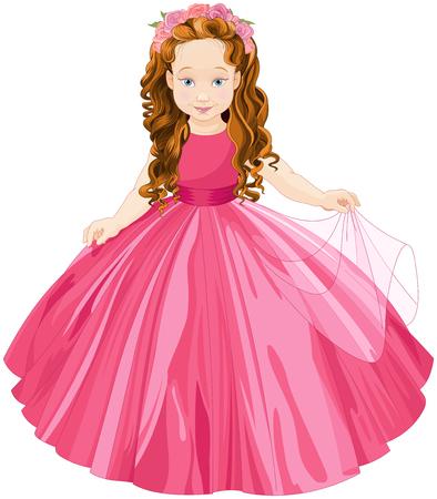 Illustration of cute  princess