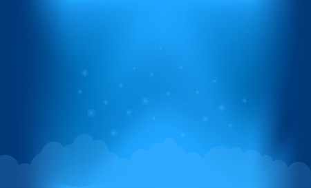 Sky with clouds background  Иллюстрация
