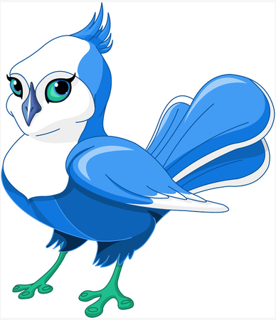 Illustration of very cute bluebird