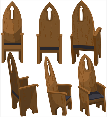 Illustration of Cathedra Church Chairs