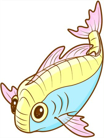 Illustration of cute exotic fish