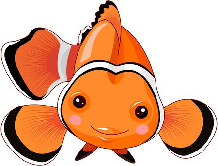 Illustration of cute clown fish Иллюстрация