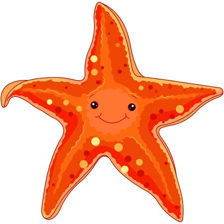 Ilustración de estrellas de mar bajo el mar.