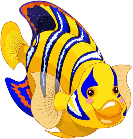 Illustration of cute angel fish Иллюстрация