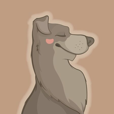 Illustration of pretty dog Illustration