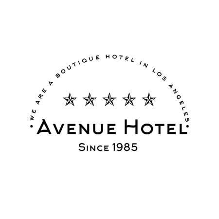 Vintage logo for hotel