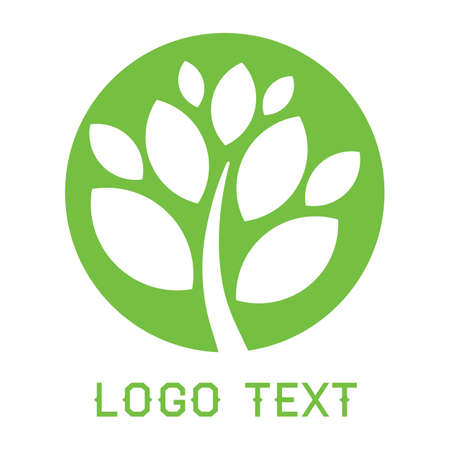 tree logo: Green tree logo