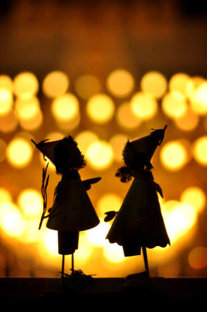 backlighting: Backlighting under the doll silhouette, pretty