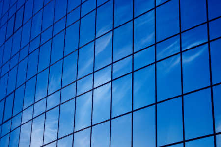 abstract blue windows reflections photo
