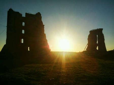 Ruins of old castle in Nowogrdek, Belarus