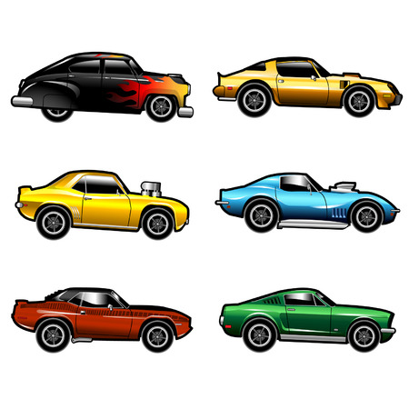 Muscle Cars Illustration