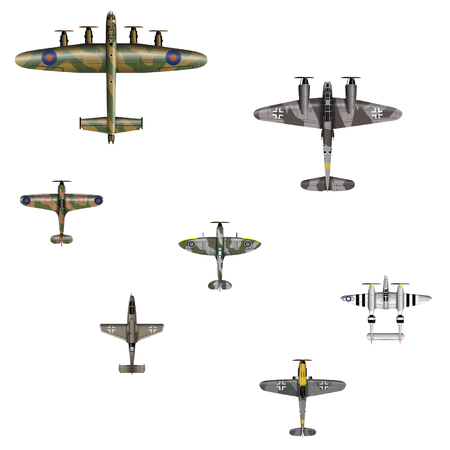 ww2: WW2 Fighter Planes Illustration