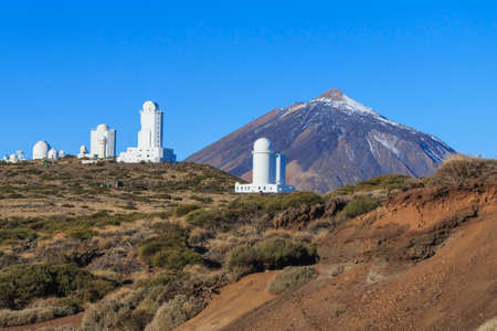 Teide Observatory near Teide volcano at summer season, day time