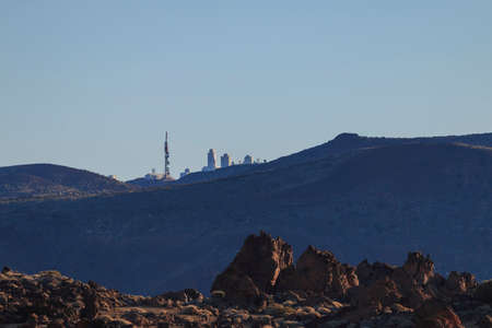 Teide Observatory near Teide volcano at summer season, day time