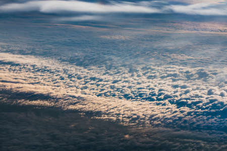 The lowest clouds in the atmosphere are stratus, cumulus, and stratocumulus. Reklamní fotografie - 122352335