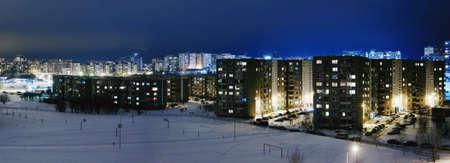 Cityscape from soviet union time, communist architecture