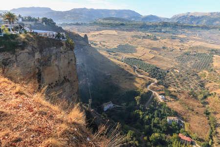 Andalusian landscapes near Ronda, Spain at summer season