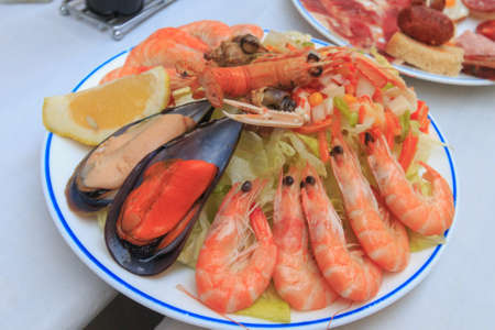 Seafood tapa in Spain local restaurant