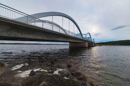 Munkholmbroen bridge in Sealand, Denmark, Scandinavia at summer time