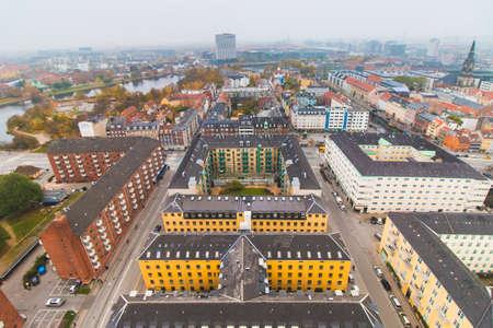 Copenhagen center skyline city view at the autumn
