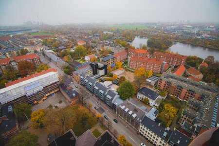 Copenhagen Christiania skyline city view at the autumn