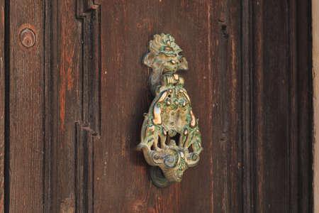 Antique door knock in Valletta Malta on old doors Mdina, Malta