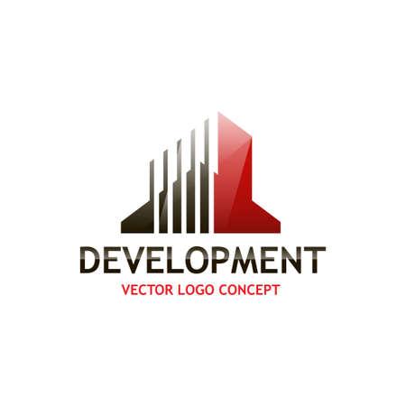 Il concetto di costruzione logo su sfondo isolato Archivio Fotografico - 51680127