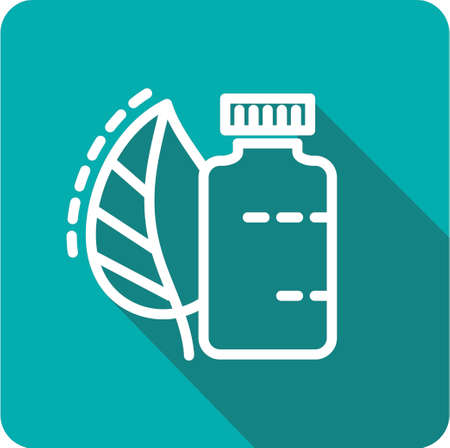 medicine icons: icon jar with the medicine from plants