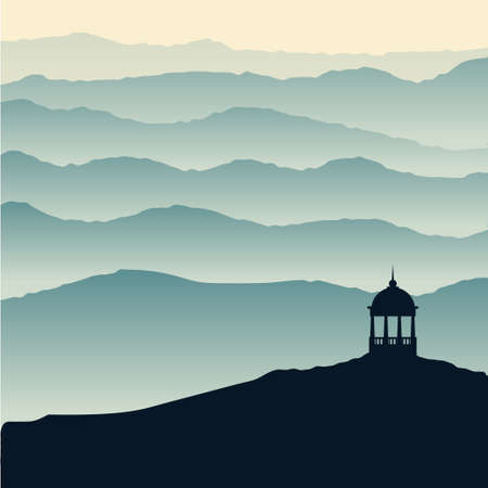 pink hills: Mountains, nature. Low polygon style flat illustrations. For web and mobile phone, print. Illustration
