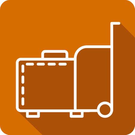 ling: Baggage icon. Travel baggage icon. Concept flat style design illustration icon. Luggage icon. Illustration
